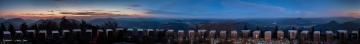 360 Grad Panorama der Aussicht vom Rehbergturm
